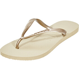 havaianas Slim sandaalit Naiset, sand grey/light golden